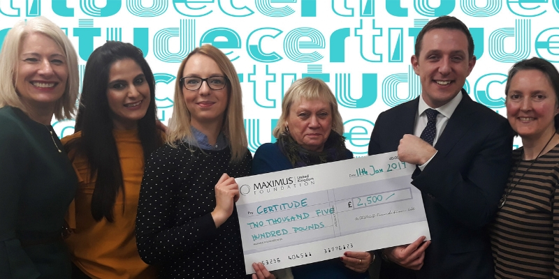 Certitude receives grant to fund life-changing technology for people with learning disabilities from MAXIUS UK