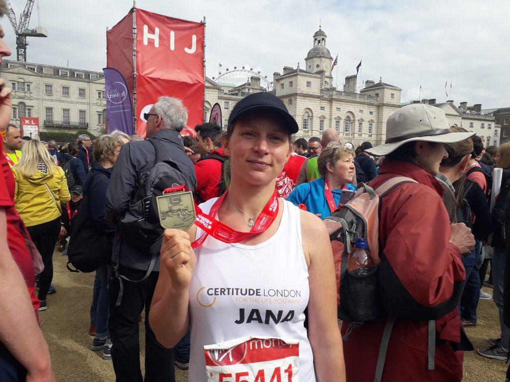 Jana our amazing marathon runner